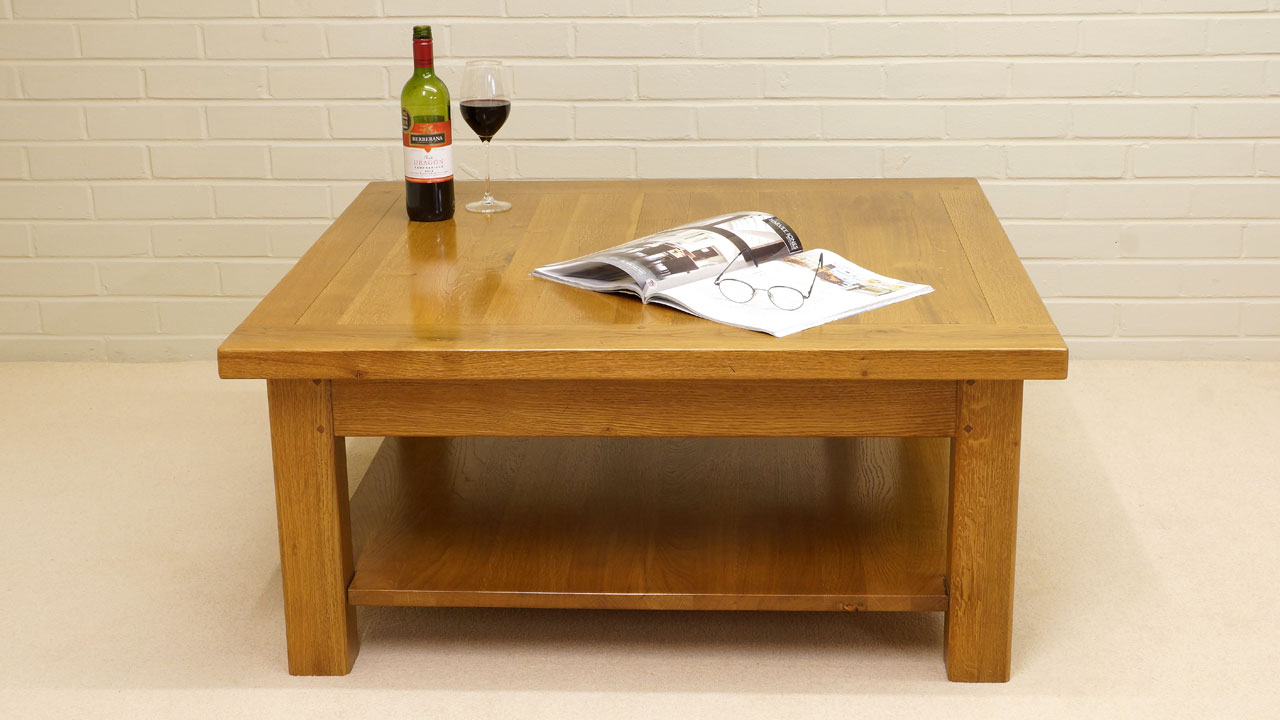 Tignes Oak Coffee Table (ex display) - Front View
