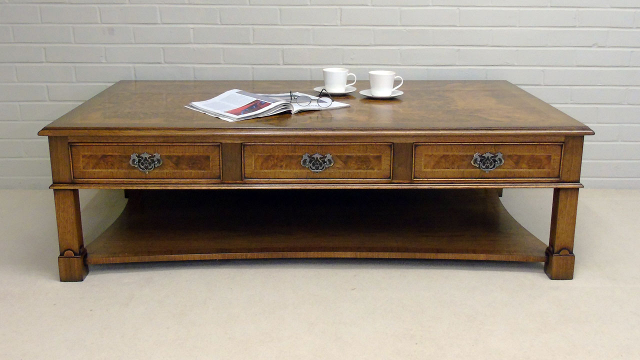 Iain James Walnut Coffee Table - Front View