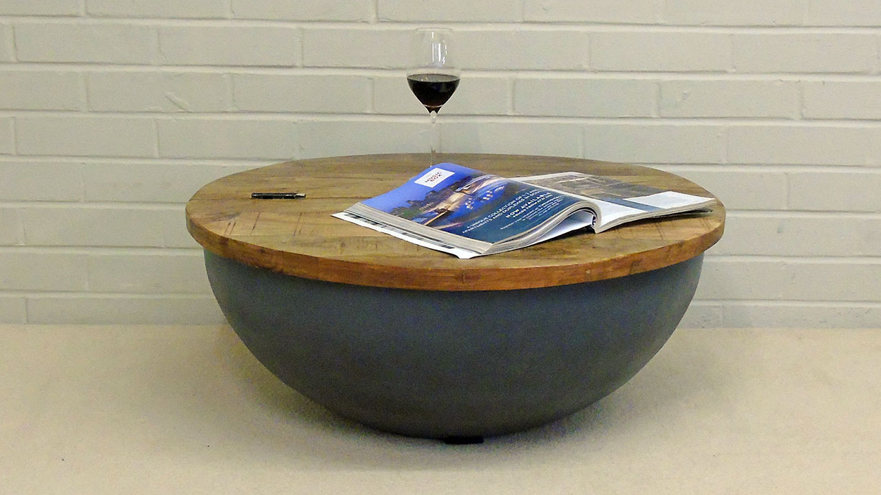 Elm Round Coffee Table (Large) - Front View