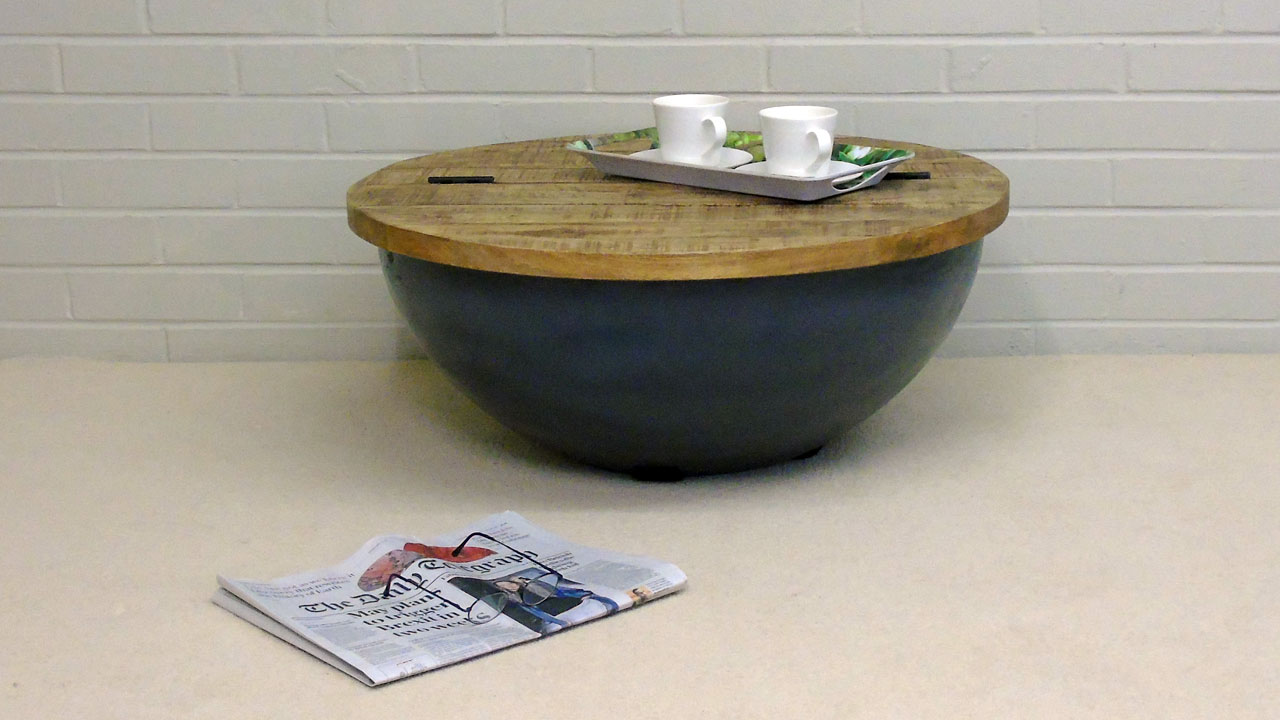 Elm Round Coffee Table (Small) - Front View