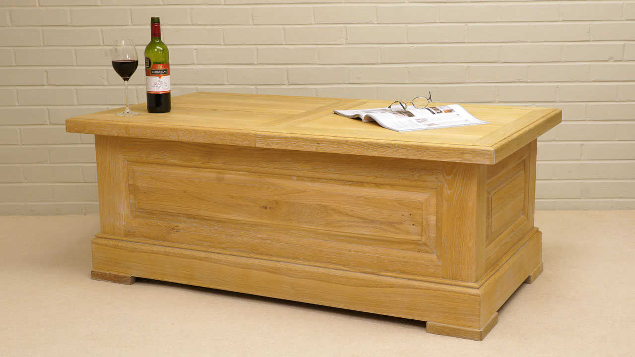 French Oak Co. Bar Coffee Table - Angled View