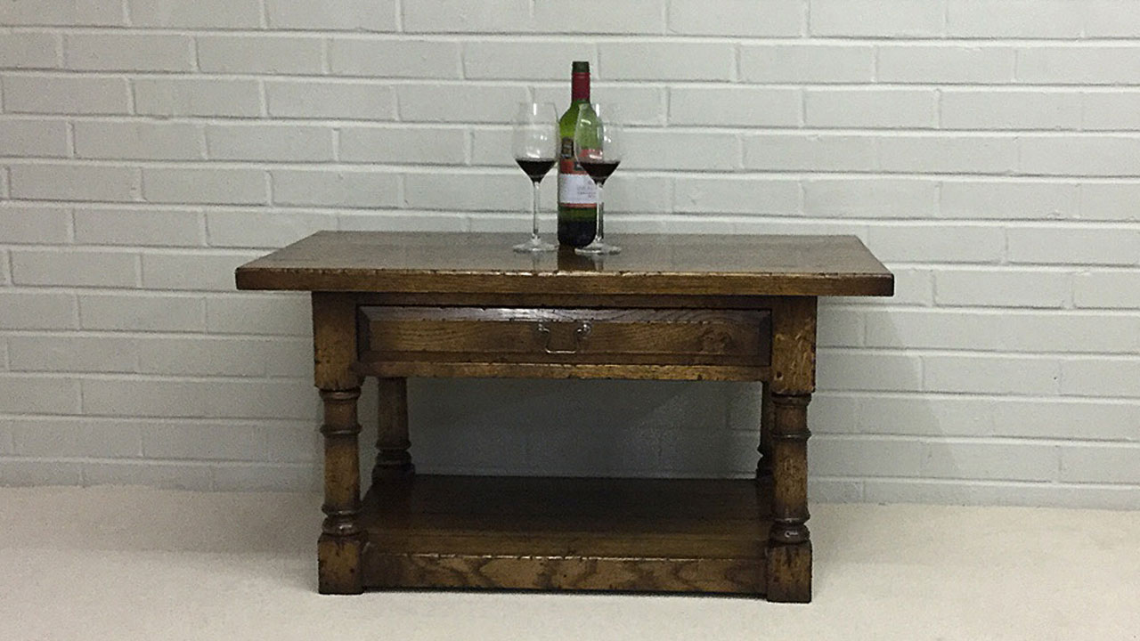 Suffolk Oak Coffee Table - Front View