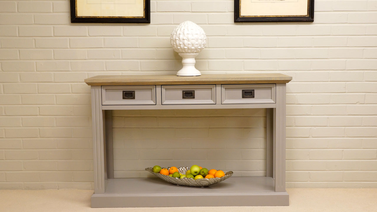 Westwood 3 Drawer Console Table - Front View