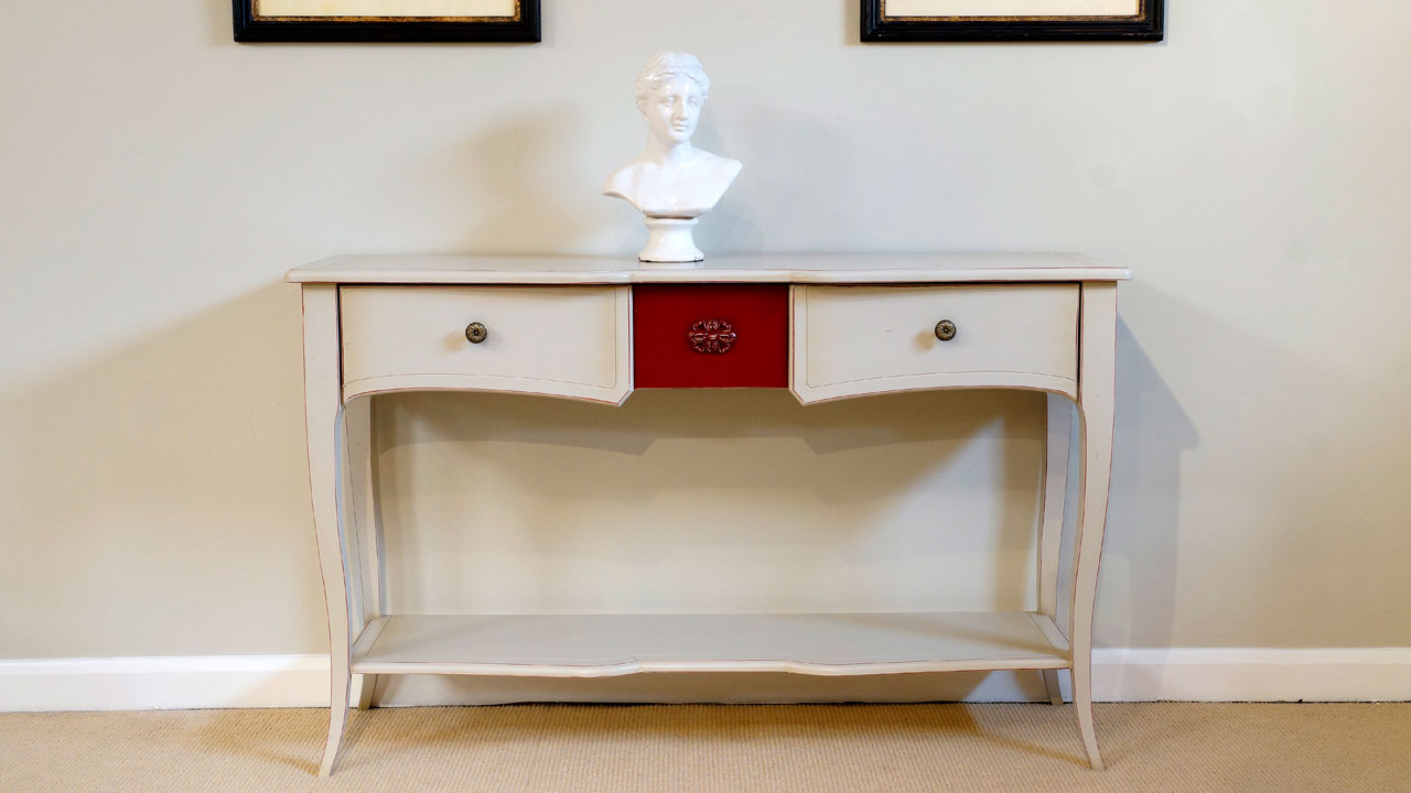 White Console Table (ex display) - Front View