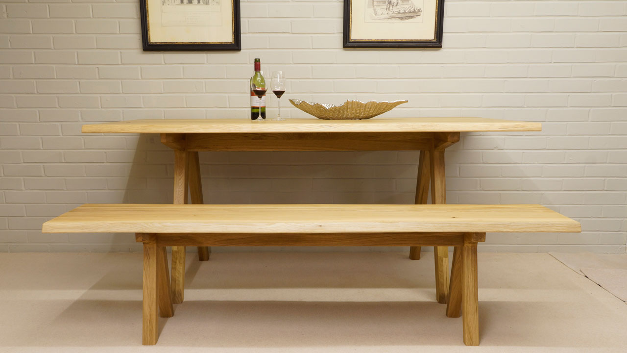 Delta Dining Table - Front View - With Bench