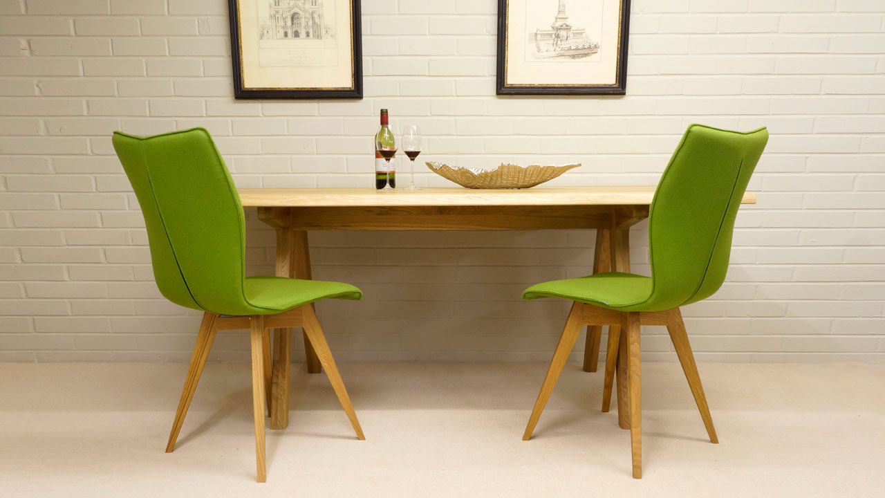 Delta Dining Table - Front View - With Chairs