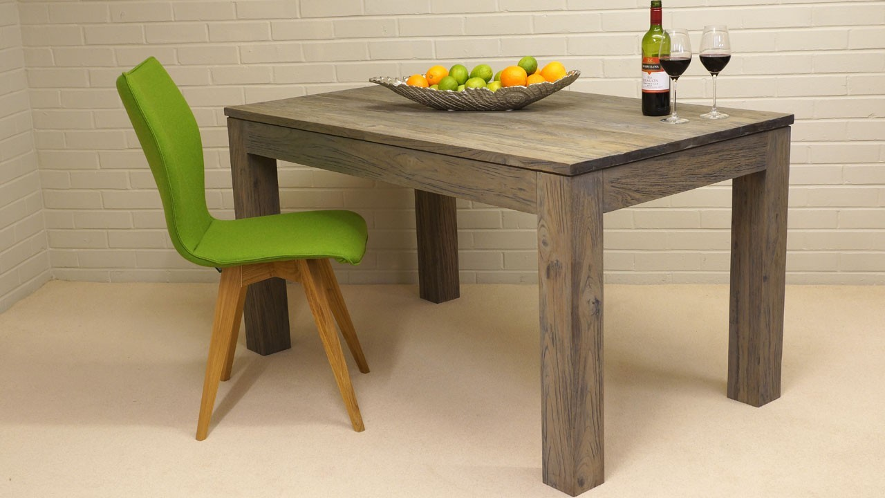 Drift Dining Table - Angled View with Chair