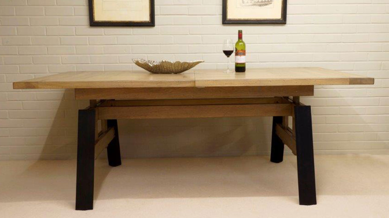Factory Extending Dining Table - Front View
