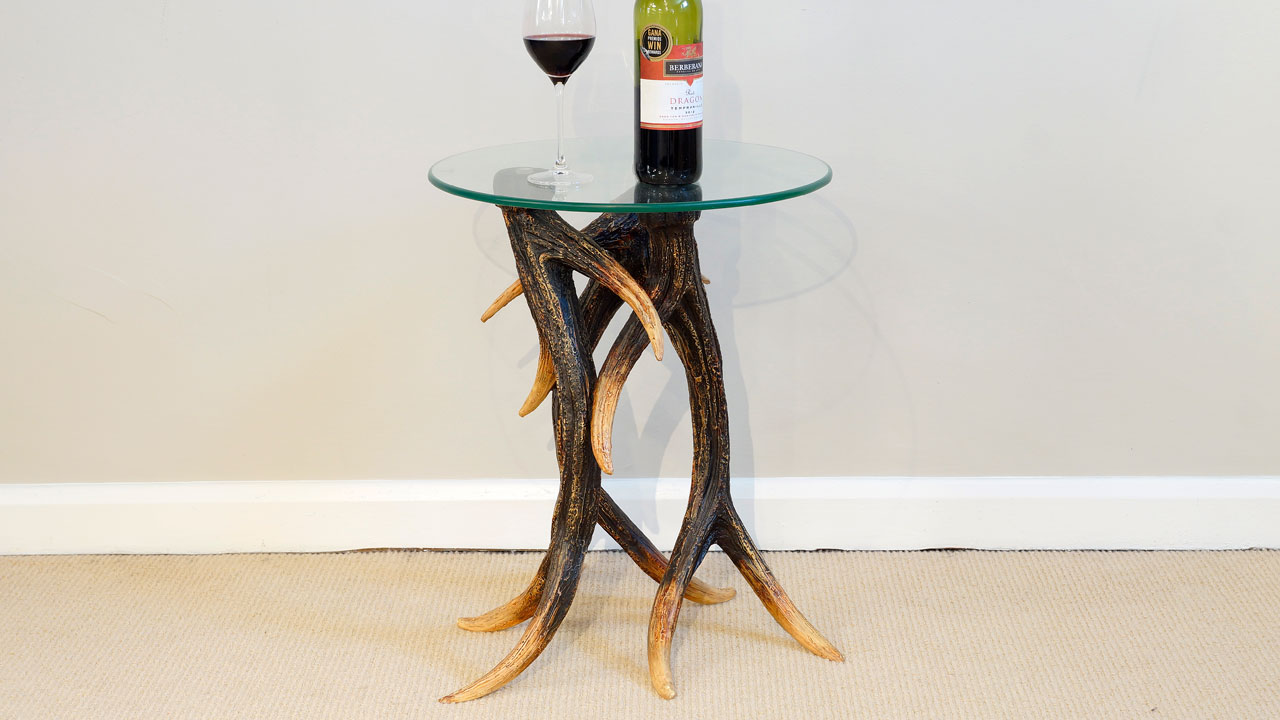 Antler Lamp Table - Front View
