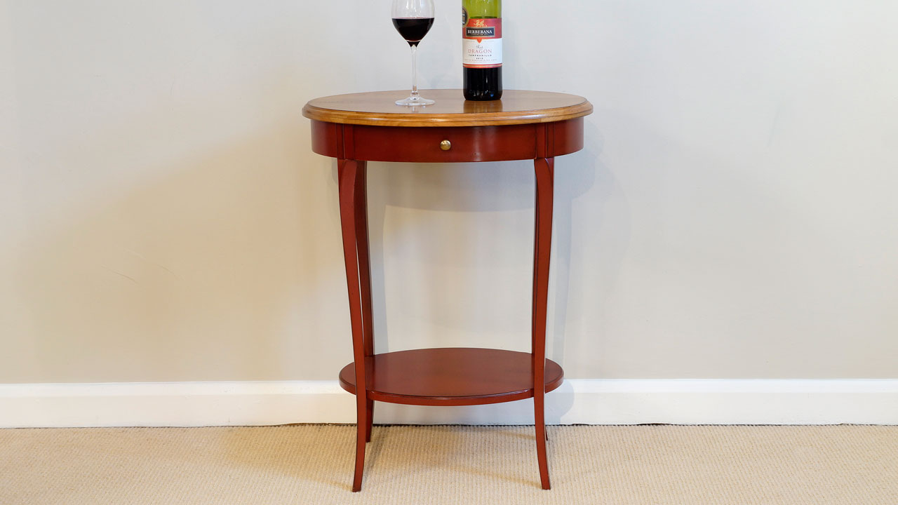 Cherrywood Lamp Table - Front View