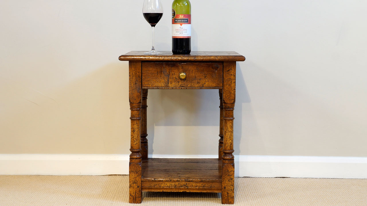 English Style Lamp Table - Front View