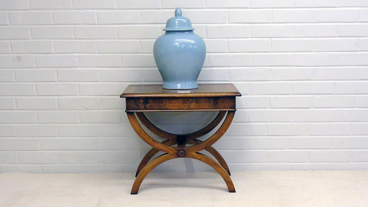 Iain James Walnut Lamp Table - Front View
