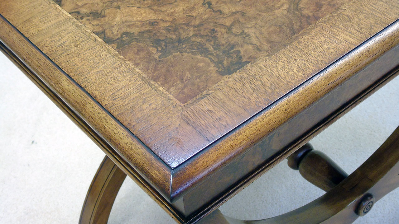 Iain James Walnut Lamp Table - Detail View