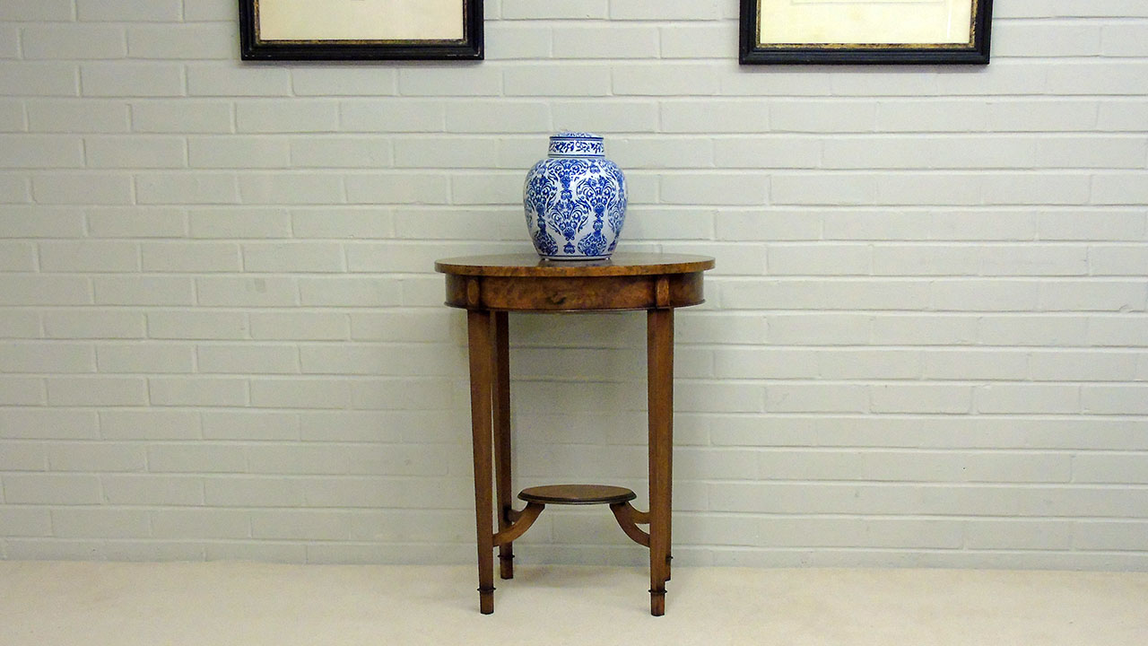 Iain James Oval Lamp Table - Front View