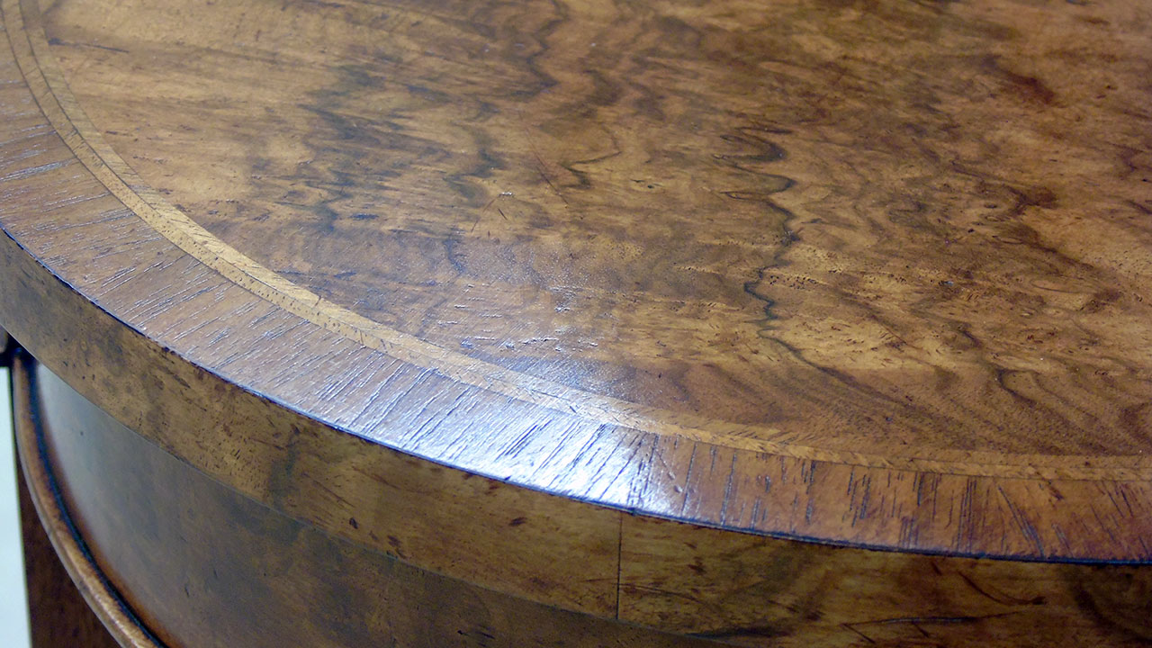 Iain James Oval Lamp Table - Detail View