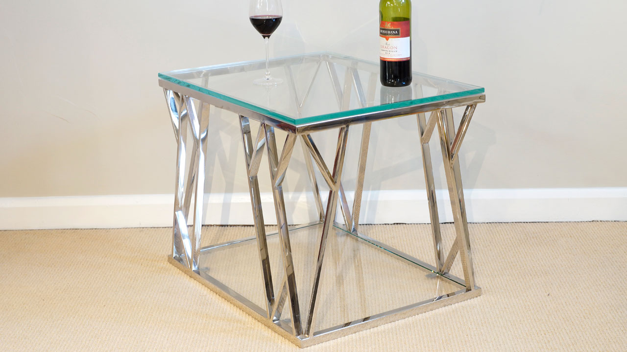 Akante Glass Lamp Table GHShaw Ltd
