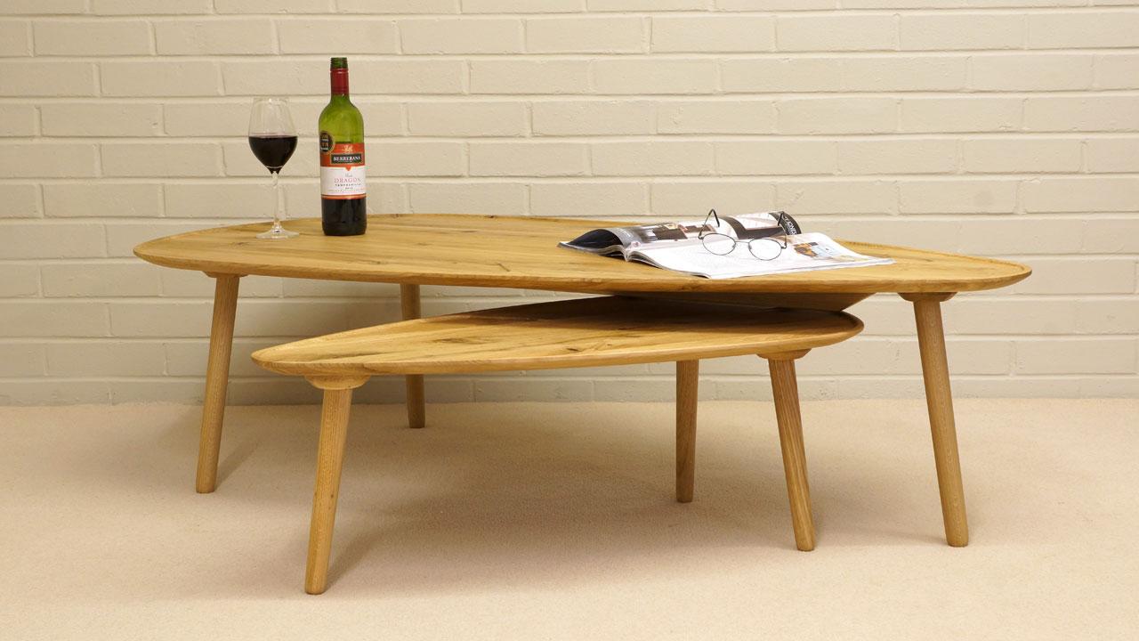 Scandinavian Style Oak Table - Front View