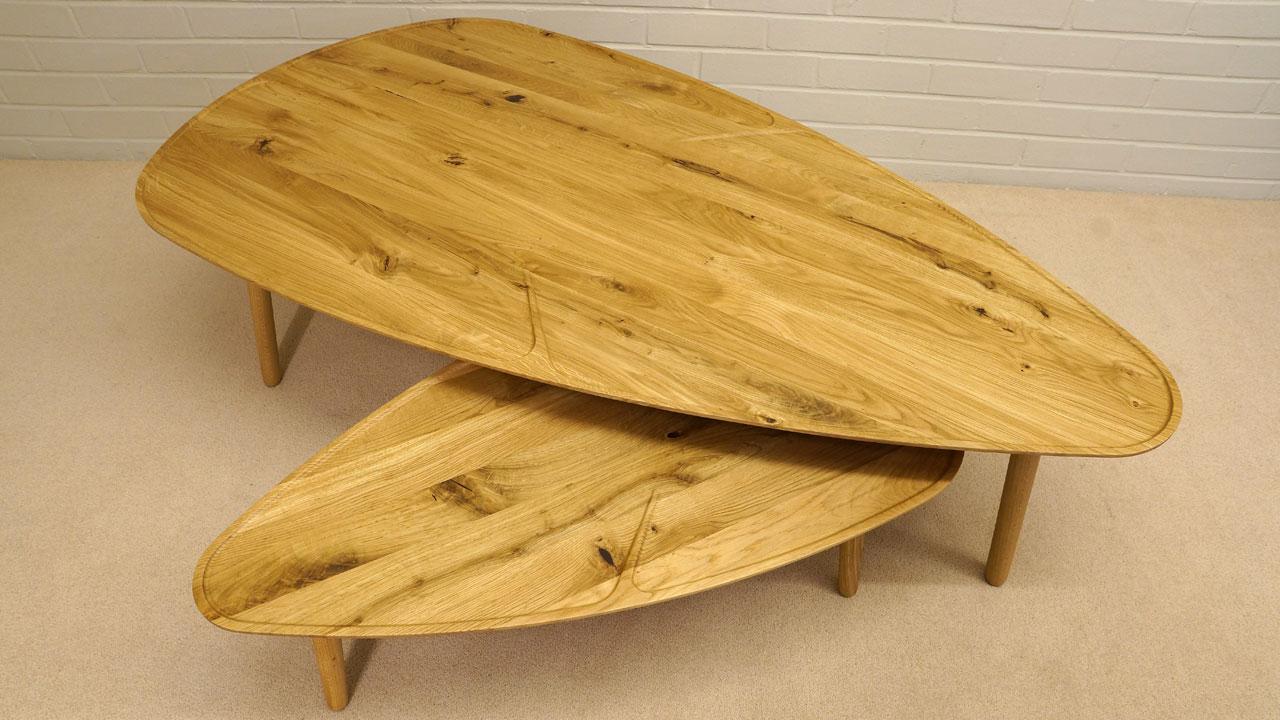 Scandinavian Style Oak Table - Detail View