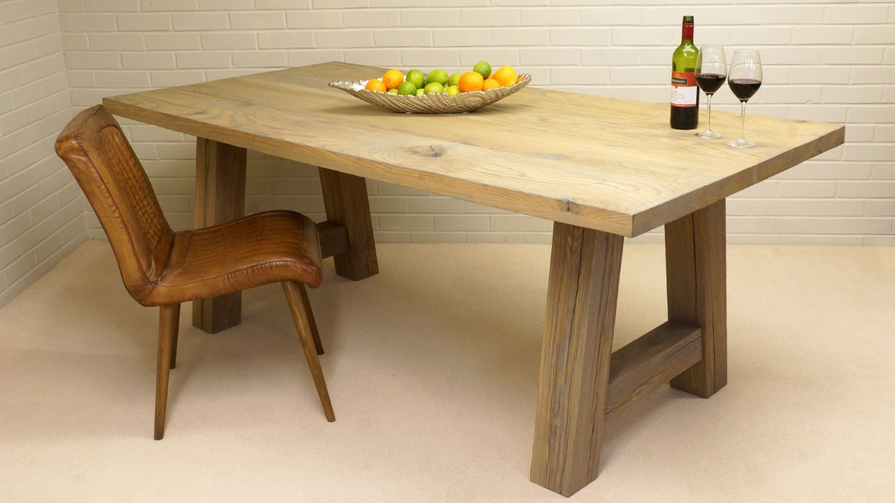 Porto Dining Table - Angled View with Chair
