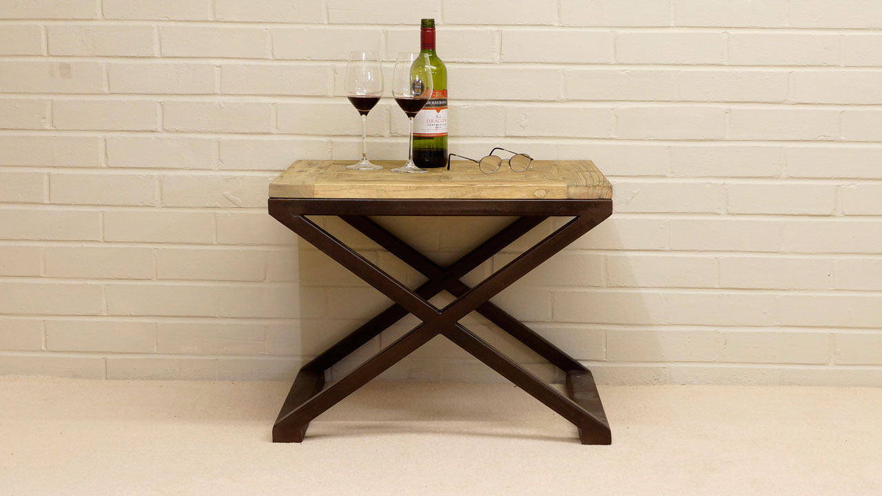 Industrial Side Table - Front View