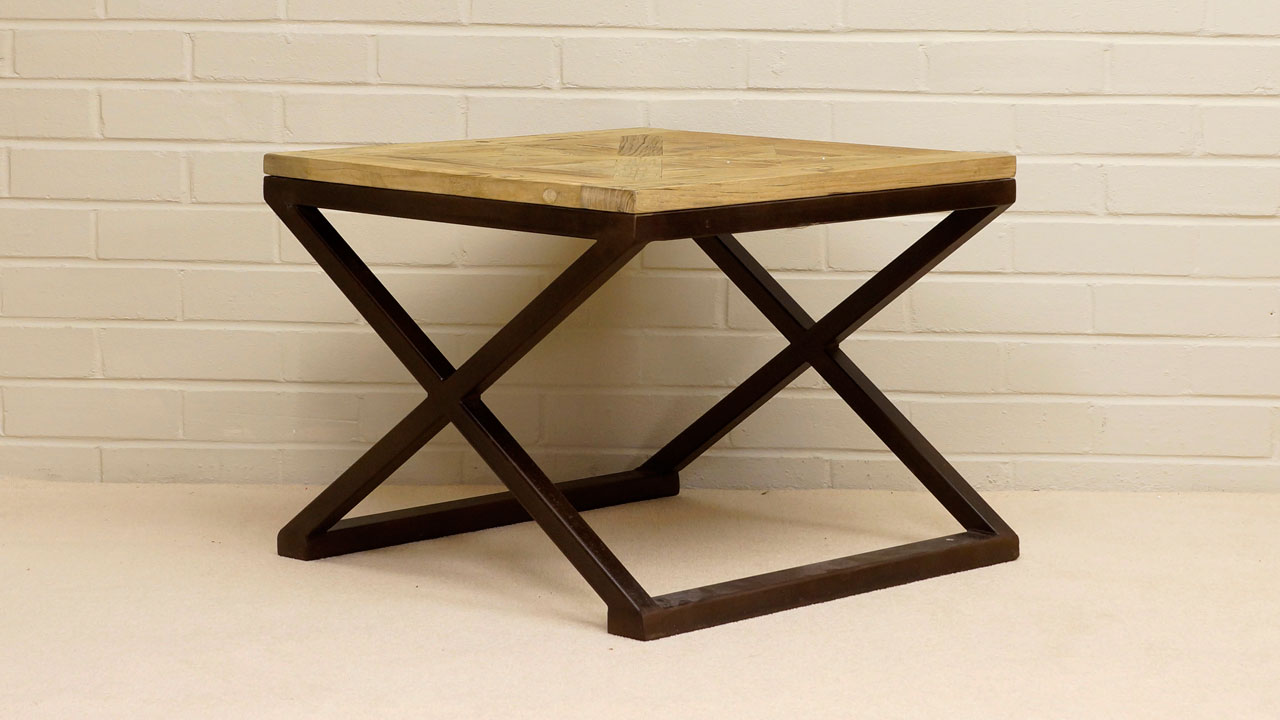 Industrial Side Table - Angled View