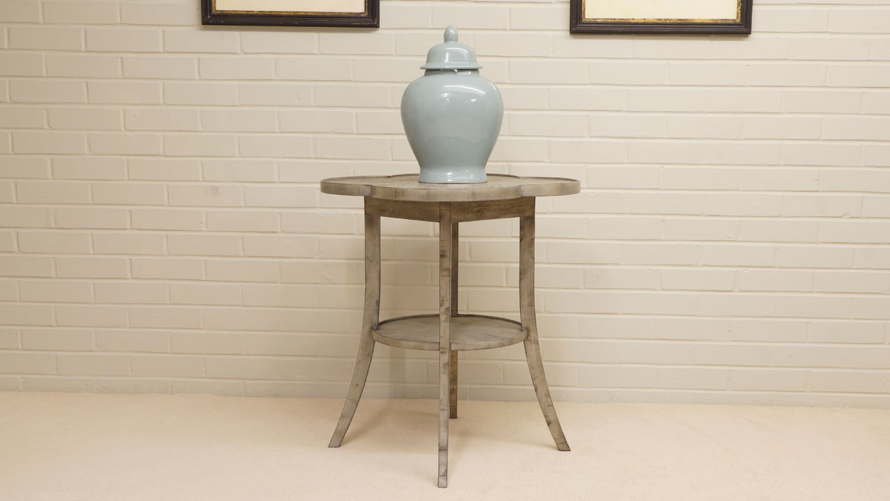 Jonathan Charles Cloverleaf Table - Front View