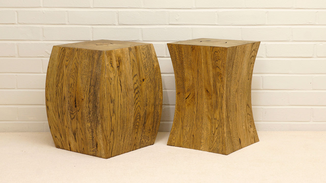 Tyko Small Side Tables/Stools - Angled View - Separated