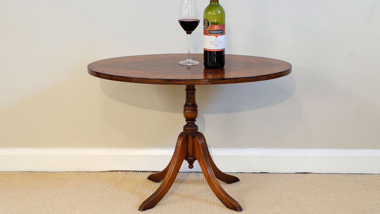 Walnut Wine Table - Front View