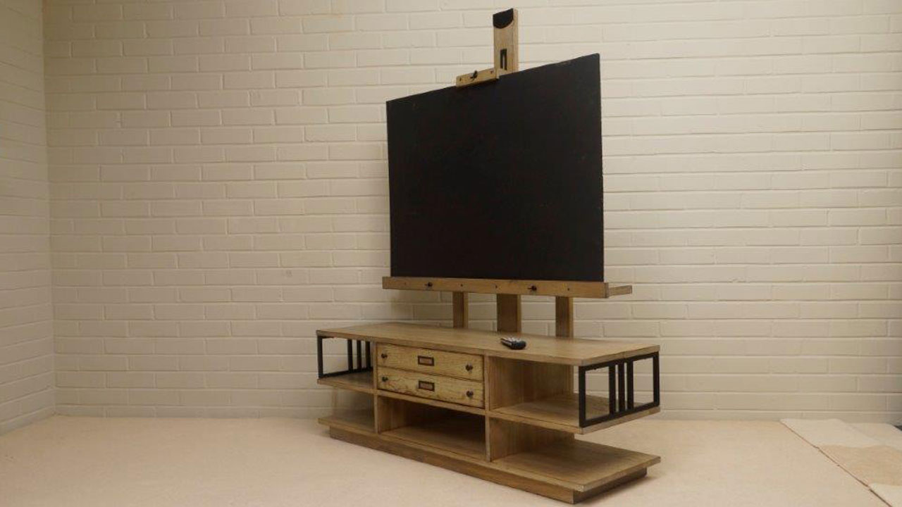 Manufacture TV Stand - Angled View
