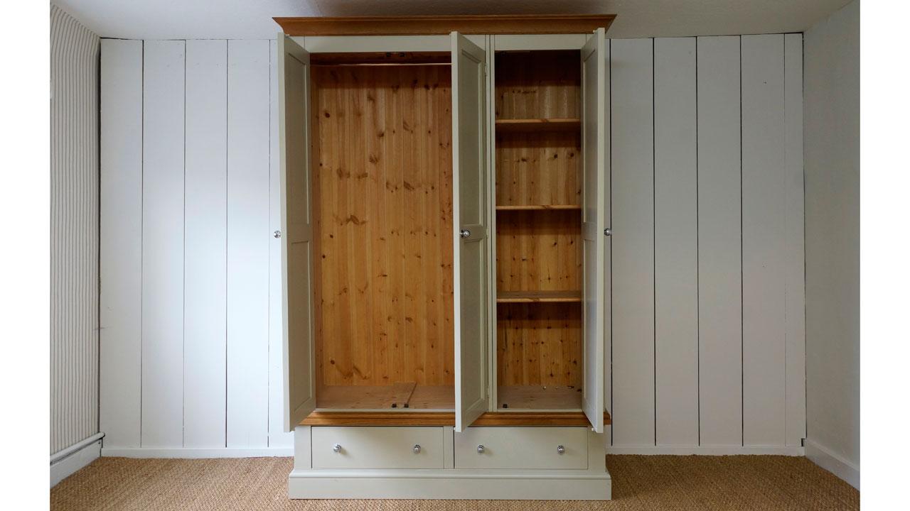 Chatsworth Wardrobe - Doors Open View